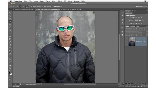 Working with the Quick Select tool: Photoshop CS6 for Photographers