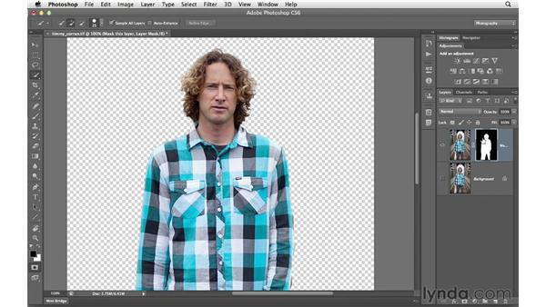 Removing a subject from the background with a mask: Photoshop CS6 for Photographers