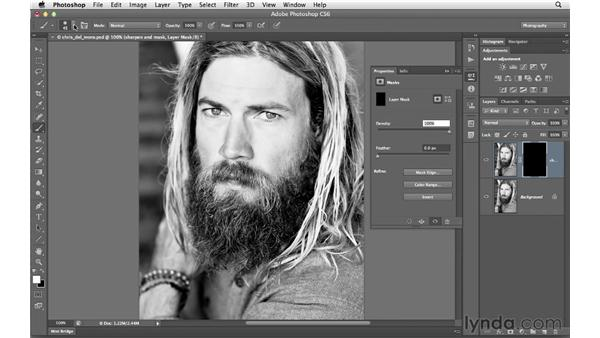 Using a mask to selectively sharpen an image: Photoshop CS6 for Photographers