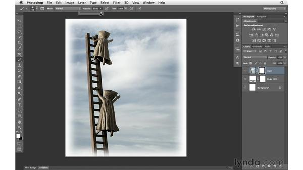 Creating a custom border using selections and masks: Photoshop CS6 for Photographers