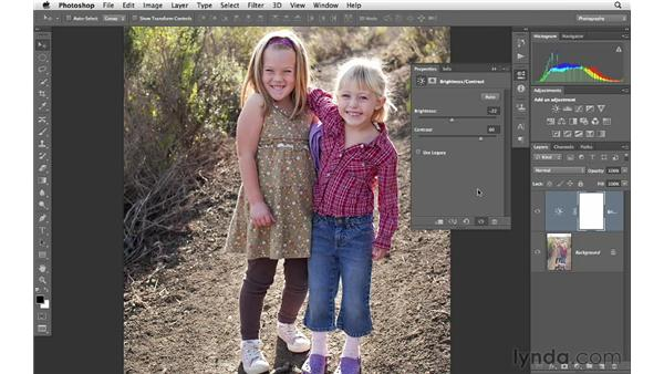 Adding brightness and contrast: Photoshop CS6 for Photographers