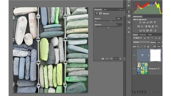 Working with vibrancy and saturation: Photoshop CS6 for Photographers