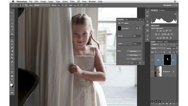 Painting in adjustments with levels and masking: Photoshop CS6 for Photographers