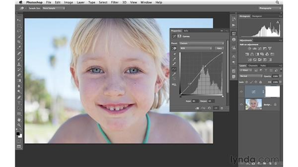 Changing brightness with curves and masks: Photoshop CS6 for Photographers