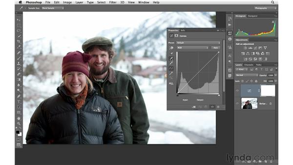 Correcting color with the eyedroppers: Photoshop CS6 for Photographers