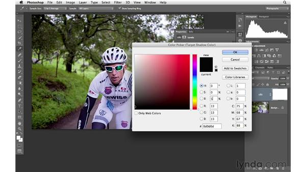 Correcting color and tone with the eyedroppers: Photoshop CS6 for Photographers