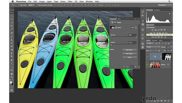 Replacing color with advanced masking : Photoshop CS6 for Photographers