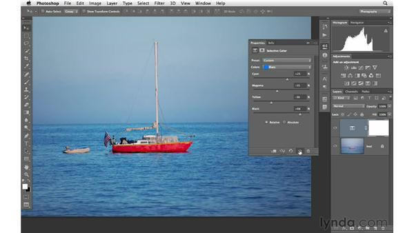 Modifying color with Selective Color: Photoshop CS6 for Photographers