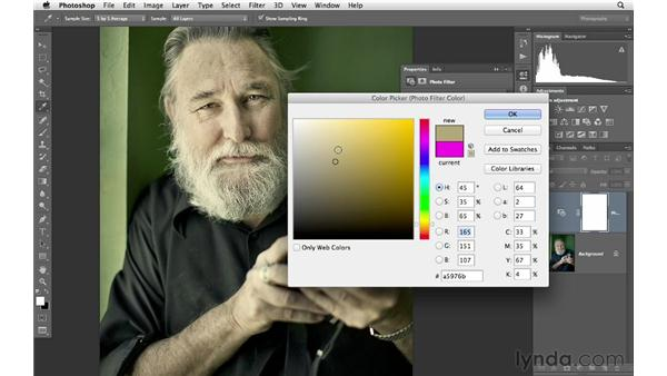 Changing color with Photo Filter: Photoshop CS6 for Photographers