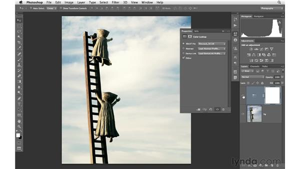 Making creative color changes with Color Lookup : Photoshop CS6 for Photographers