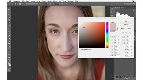 Dodging and reducing shadows in a portrait: Photoshop CS6 for Photographers