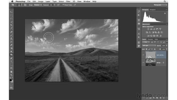 Improving a black-and-white landscape: Photoshop CS6 for Photographers