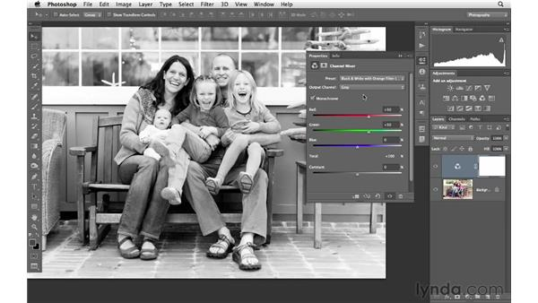 Converting a landscape to black and white: Photoshop CS6 for Photographers