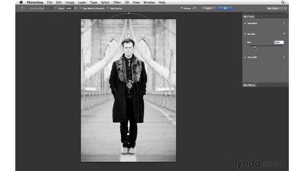 Changing focus with the Blur Gallery: Photoshop CS6 for Photographers