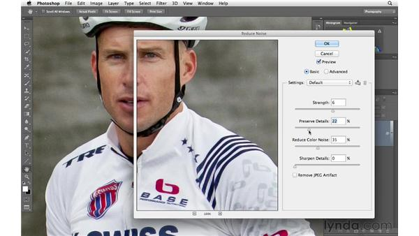 Using the Noise Reduction filter: Photoshop CS6 for Photographers
