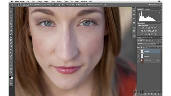 Brightening shadows under the eyes: Photoshop CS6 for Photographers