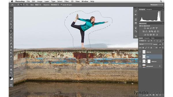 Moving a subject with the Content-Aware Move tool: Photoshop CS6 for Photographers