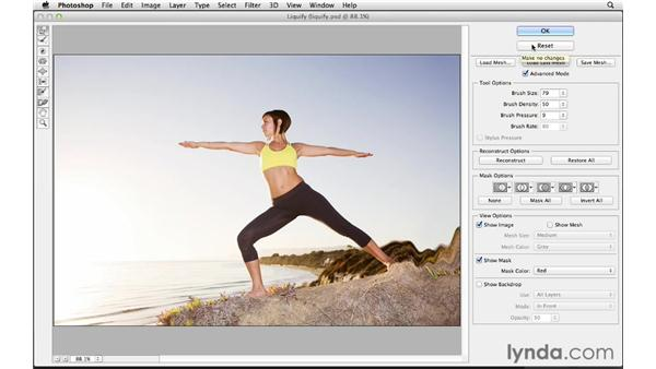 Changing shape and dimension with Liquify: Photoshop CS6 for Photographers