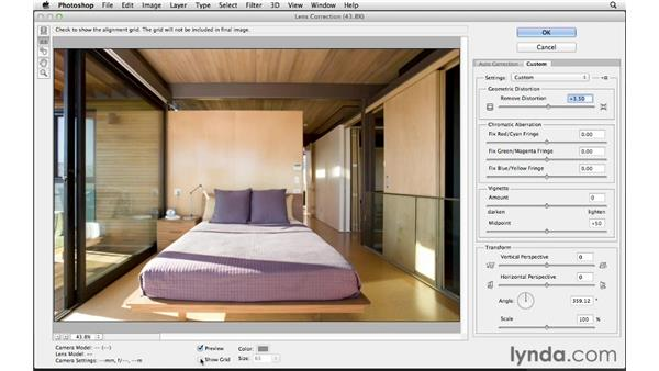 Using the Lens Correction filter: Photoshop CS6 for Photographers
