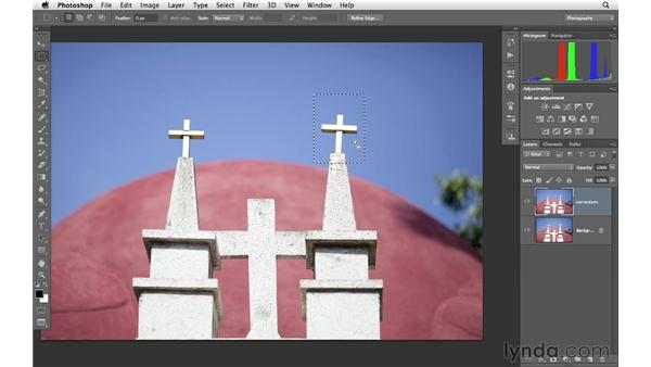 Applying Free Transform to correct perspective: Photoshop CS6 for Photographers