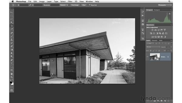 Correcting distortion with the Perspective Crop tool: Photoshop CS6 for Photographers