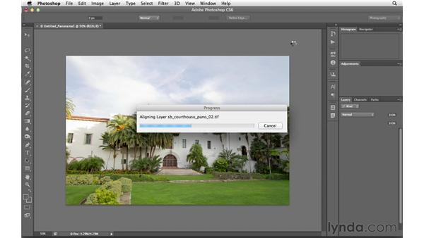 Creating a panoramic photo from multiple frames: Photoshop CS6 for Photographers