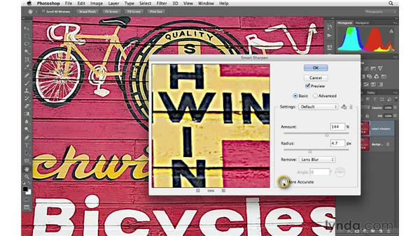 Working with Smart Sharpen: Photoshop CS6 for Photographers
