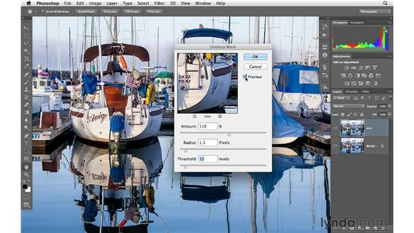 Using Unsharpen Mask: Photoshop CS6 for Photographers
