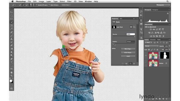 Selectively sharpening the in-focus areas of an image: Photoshop CS6 for Photographers