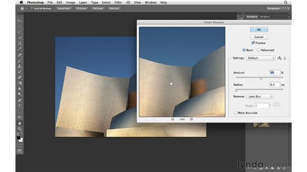 Sharpening for the web: Photoshop CS6 for Photographers