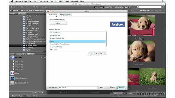 Exporting images to Facebook or Flickr: Photoshop CS6 for Photographers