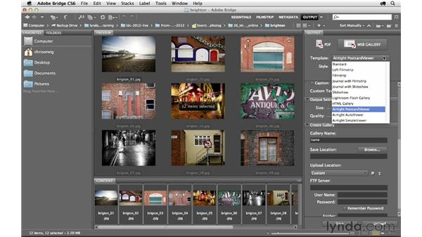 Creating a web gallery: Photoshop CS6 for Photographers