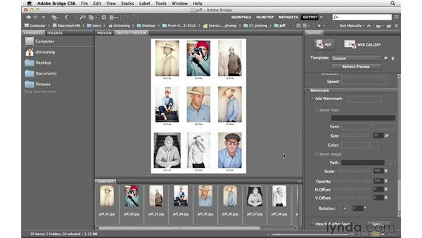 Creating a PDF layout and contact sheets: Photoshop CS6 for Photographers