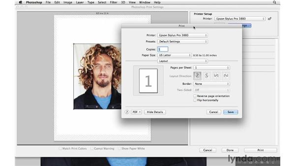 Adjusting printer settings: Photoshop CS6 for Photographers