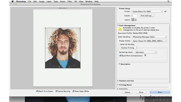 Customizing the Print dialog box options: Photoshop CS6 for Photographers