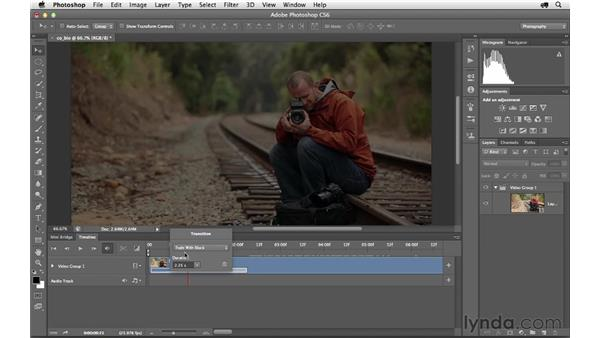 Opening up a video file in Photoshop: Photoshop CS6 for Photographers