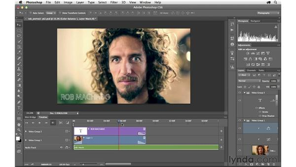 Using adjustment layers and adding an audio track: Photoshop CS6 for Photographers