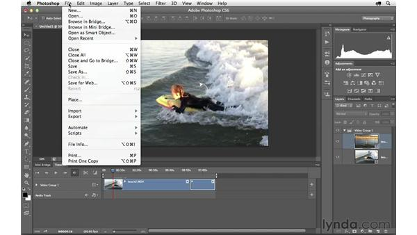 Creating a project with multiple clips: Photoshop CS6 for Photographers