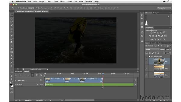 Adding a cross-dissolve fade and creating custom shortcuts: Photoshop CS6 for Photographers