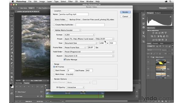 Exporting a project: Photoshop CS6 for Photographers