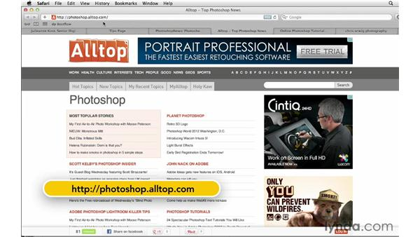Exploring additional resources and ways to keep in touch : Photoshop CS6 for Photographers