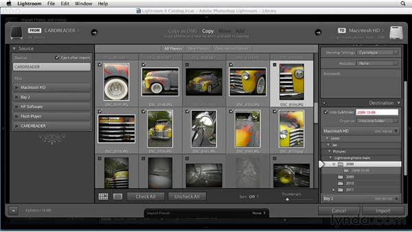 Importing from a camera: Up and Running with Lightroom 4