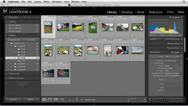 Touring the Library module: Up and Running with Lightroom 4