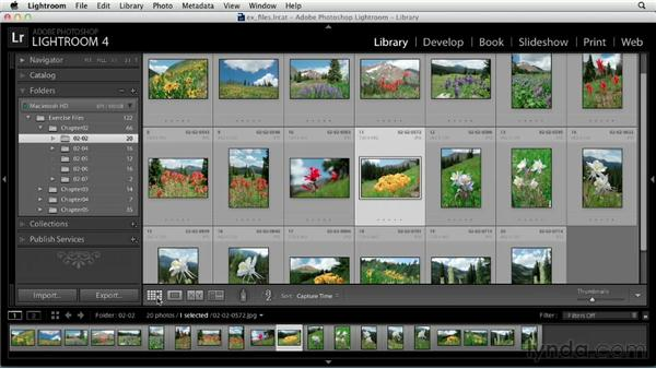 Viewing and selecting photos and video: Up and Running with Lightroom 4