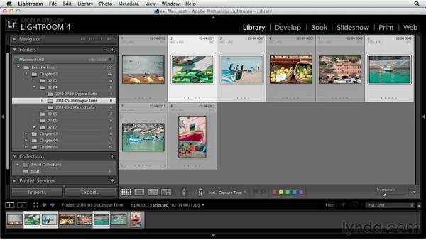 Organizing your library with collections: Up and Running with Lightroom 4