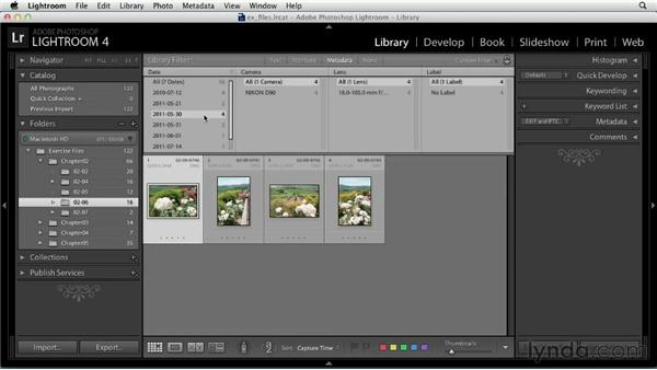 Finding photos with filters: Up and Running with Lightroom 4