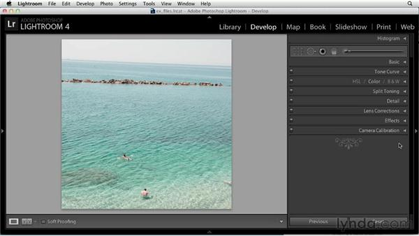 Cropping and straightening: Up and Running with Lightroom 4