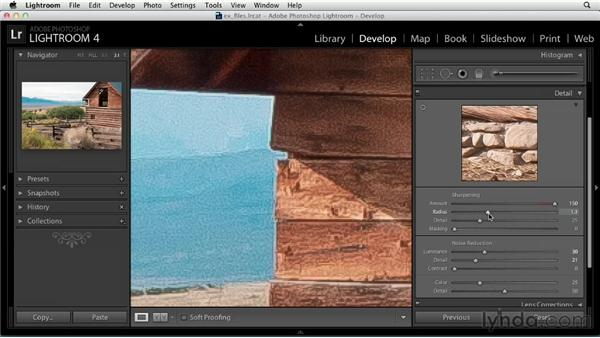 Sharpening: Up and Running with Lightroom 4