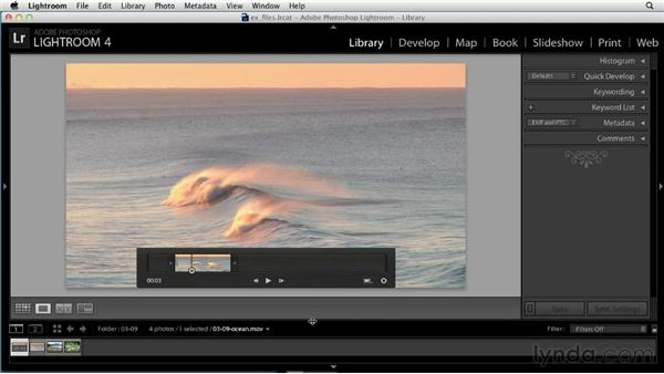 Working with video: Up and Running with Lightroom 4