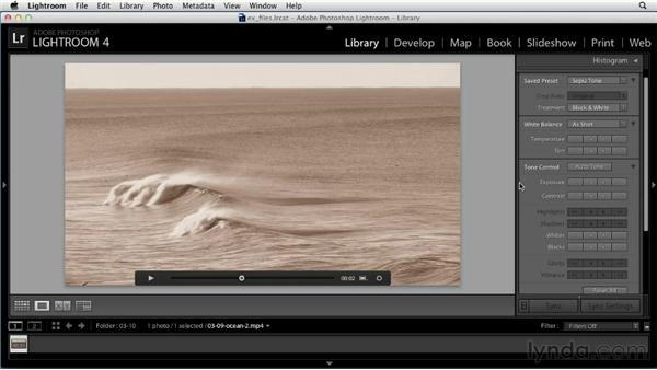 Enhancing video: Up and Running with Lightroom 4